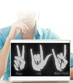 Rock Laptop (dizüstü bilgisayar) Sticker(30.00 TL)