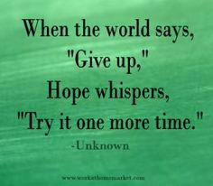 Lessons on Hope