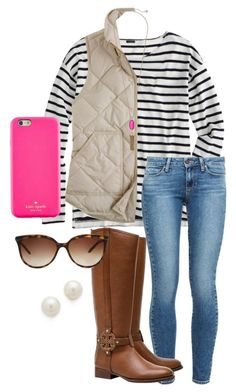 """""""Classy"""" by whalesandprints ❤ liked on Polyvore featuring J.Crew, Kate Spade, Paige Denim, Tory Burch, Tiffany & Co., Kenneth Jay Lane, Kendra Scott, women's clothing, women's fashion and women"""