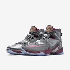 reputable site 3ccdc e3436 Nike LeBron 13 Opening Night Colorway  Cool Grey Wolf Grey Deep Garnet  Release Date  November 2015