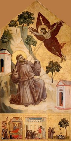 Saint Francis Receiving the Stigmata is a panel painting in tempera by the Italian artist Giotto, painted around 1295–1300 and now in the Musée du Louvre in Paris. It shows an episode from the life of Saint Francis of Assisi, and is 314cm high by 162cm wide
