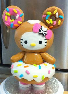 Hello Kitty donut cake!