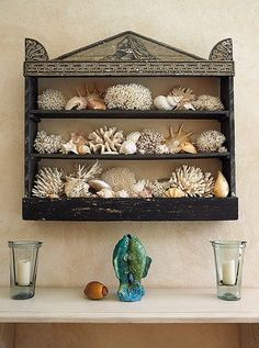 """""""Some of nature's offerings can add the perfect touch to a home and give it a 'sense of place,'"""" Bunny writes. Here, corals and shells from the shores bringinthe breezy seaside spirit of Punta Cana."""