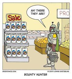 Aha he's a Bounty-hunter.. XD