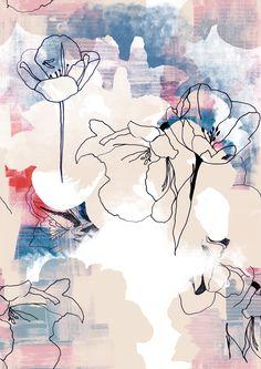 #floralprint #floralstylized