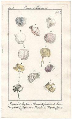 Bonnets, an 8 costume parisien