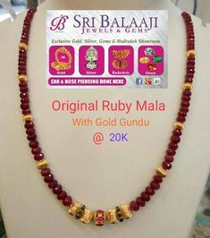 Where To Buy Costume Jewelry Gold Mangalsutra Designs, Gold Earrings Designs, Beaded Jewelry Designs, Gold Jewellery Design, Bead Jewellery, Latest Jewellery, Ruby Jewelry, Prom Jewelry, Fine Jewelry