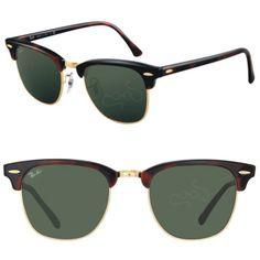 Las Clubmaster Clasicas 3016 W0366 están inspiradas en los años 50 y se convierten en tendencia para este 2014. Marco en acetato color carey y lentes color verde cristal solido.