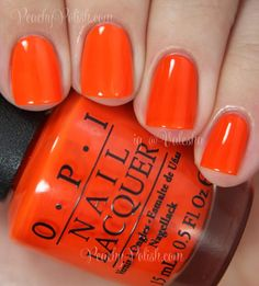 OPI Juice Bar Hopping | Summer 2014 Neon Collection | Peachy Polish