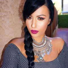 "#ShareIG #tgif Feeling like Pocahontas  @doseofcolors ""Berry Me"" on the lips  Necklace from @mash__style ✨"