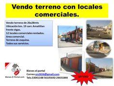 vendo terreno con locales comerciales.