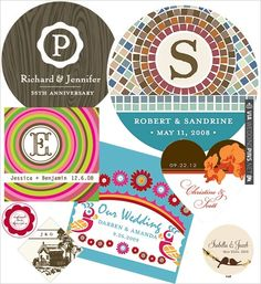Personalized Wedding Stickers from Bliss Wedding Market | VIA #WEDDINGPINS.NET