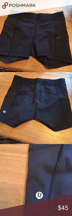 Lululemon shorts Like compression shorts with side pockets. Worn once. Perfect condition lululemon athletica Shorts
