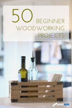 50 different DIY woodworking and craft projects for beginners. Home craft projects including coasters, lanterns, napkin holders, and a clock. #sawshub #woodworking #DIY #projects #craft #beginner #homeimprovement #woodworkingclockprojects...