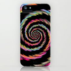 Colour Mix Spiral #2 iPhone & iPod Case by Ornaart - $35.00