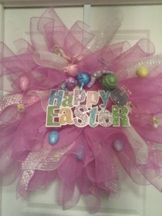 Easter Spring wreath Balloons, Easter, Wreaths, Spring, Party, Crafts, Beautiful, Globes, Manualidades