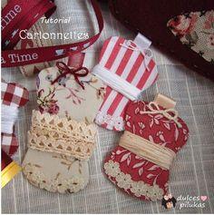 dulces pilukas: Cartonnettes forrados de tela