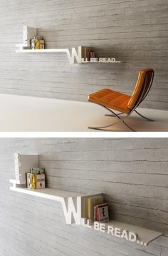 Really creative book shelf.