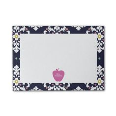 Pink Apple Ikat Teacher Post-it  Notes from The Pink Schoolhouse
