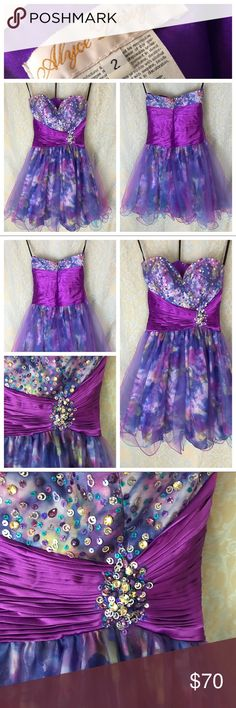 NEW Alyce Designs Prom Dress Embellished Size 2 Gorgeous and stunning! NEW (without tags) Alyce Designs Prom Dress Embellished with tiny sequins! Size 2 Alyce Designs Dresses Prom