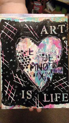 Mixed media art work by Karen JOnes