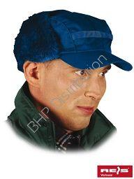Niebieska czapka uszanka zimowa CZO