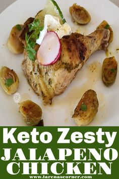 Keto Zesty Jalapeno Chicken Recipe Make Chicken Broth, Fish And Chicken, Spatchcock Chicken, Oven Roasted Chicken, Jalapeno Sauce, Apricot Chicken, Slice Of Lime, Thing 1, Stuffed Whole Chicken