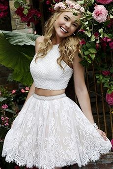 Sherri Hill 32313 Lace Two Piece Short Prom Dress - Homecoming Dresses Hoco Dresses, Dance Dresses, Pretty Dresses, Beautiful Dresses, Wedding Dresses, Sherri Hill Prom Dresses Short, Dresses 2016, Mini Dresses, Short Dresses For Homecoming