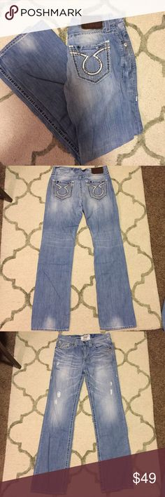 Men's Big Star Pioneer Jeans Big Star, Pioneer style men's jeans. In great condition with the exception of a small tear on the left leg where the pant was already deconstructed on purpose, pictured. Size 34XL. Retails for $98. I offer discounts on bundles! Big Star Jeans Bootcut