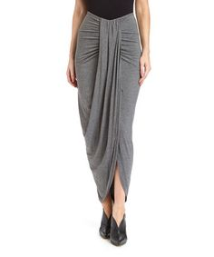 Look what I found on #zulily! Gray Wrap-Front Maxi Skirt #zulilyfinds