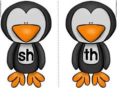 Digraph Sorting - CH, SH, TH, WH using Fish and Penguins clipart and sorting mats. Kindergarten Literacy Stations, Kindergarten Language Arts, Kindergarten Activities, Preschool, First Grade Phonics, First Grade Reading, Word Work Activities, Speech Activities, Consonant Digraphs