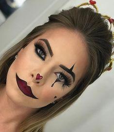 Most popular simple halloween makeup diy 42 Ideas Cute Halloween Makeup, Halloween Eyes, Halloween Stuff, Halloween Costumes, Clown Makeup, Costume Makeup, Doll Makeup, Circus Makeup, Natural Prom Makeup