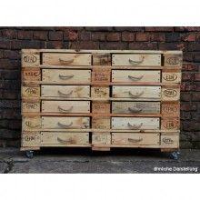 Sideboard aus Europaletten – 12 Schubladen