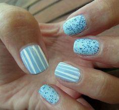 56 Ideas para que pintes tus uñas color celeste - light blue nails | Decoración de Uñas - Manicura y NailArt