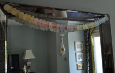 Easter garland I made by cutting out paint sample strips!