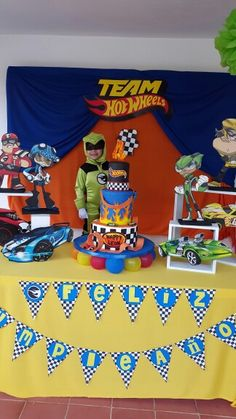 Gage. team hot wheels party decoration