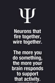 neurons that fire together, wire together. the more you do something, the more your brain responds to support that activity. Psychology Says, Psychology Quotes, Pseudo Science, Brain Science, Life Science, Computer Science, Motivational Quotes, Inspirational Quotes, Neurons