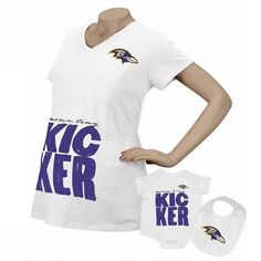 Baltimore Ravens Reebok Kicker Maternity Top Infant 3 Piece Set | eBay when I have another baby lol