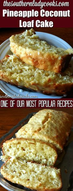 Pineapple coconut loaf cake is wonderful to serve anytime. One of our most popular recipes and a delicious cake with coffee. Easy recipe. #cake #dessert #coffee #pineapple #coconut #food #recipe #delicious #popular