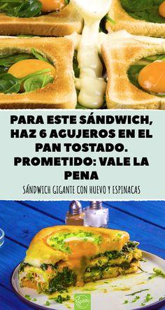 Un sándwich para toda la familia y amigos. Ideal para desayunos, fiestas y cenas. #rapido #riquisimo #creativo #desayuno #creativo #comida #sencillo #pantostado #sandwichgigante #queso #fiestas