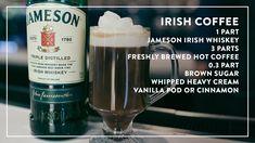 Irish Coffee, Hot Coffee, Jameson Irish Whiskey, Heavy Whipping Cream, Baileys, Vodka Bottle, Brewing, Ireland, Cocktails
