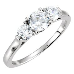 10K Yellow Gold Band 2 For 3-stone Engagement Ring