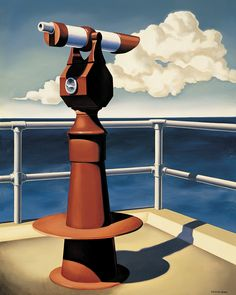 Kenton Nelson, Mr. Hurley Takes Leave, oil on canvas