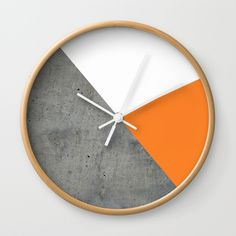 I think I like it... Not sure...Concrete Tangerine White Wall Clock by ARTbyJWP