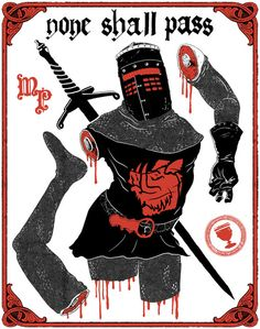 Monty Python and the Holy Grail Flesh Wound Poster