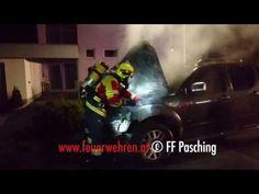 FF Pasching (OÖ): Brenneder PKW #feuerwehr #fire #firemen