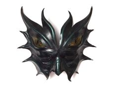 Leather Dragon Demon Mask by LeatherObscura on Etsy