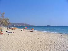 Plaka sandy beach in Naxos Island Greece
