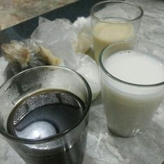 Black coffee, milk, and ginger milk. All just brewed!!!
