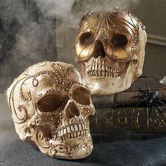 Skull Gold Mask Head